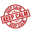 keep calm round red grunge stamp vector image