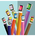 Concept for mobile apps vector image