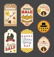 Set of Thanksgiving gift tags vector image