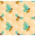 Bees seamless pattern vector image