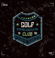Golf club badge vector image