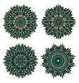 Circular floral patterns of emerald lace flowers vector image vector image