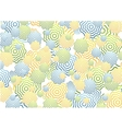 Bright abstract rings background vector image