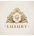 Calligraphic flourishes Luxury Logo template vector image vector image