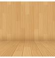 wooden texture empty room background vector image