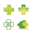 Abstract cross logos collection Unusual vector image