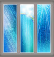 Blue rain banners Abstract water background design vector image
