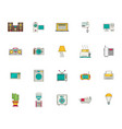 household appliances and things icon set flat vector image
