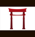 japanese pagoda icon vector image