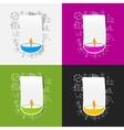 Drawing business formulas lamp vector image