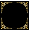 Golden ornate royal fleur de lys frame vector image