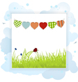 Spring background panel vector image vector image