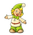 little gnome boy vector image vector image