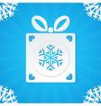 christmas postcard gift 1 vector image vector image