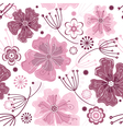 white and pink seamless floral vector image vector image