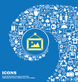 picture icon Nice set of beautiful icons twisted vector image