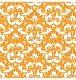 Cute geometrical foxes seamless pattern background vector image