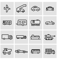 line vehicles icon set vector image
