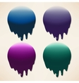 Set of dripping ink splatters vector image