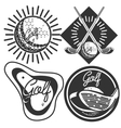 Set of vintage golf labels badges and emblems vector image