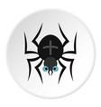 spider icon circle vector image