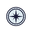 compass nautical direction star icon vector image