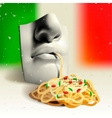 Italian food - concept vector image