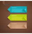 Numbered elements for infographics vector image