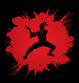 kung fu fighting tiger action graphic vector image