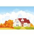 Autumn cottage vector image