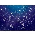 Fragment of Astronomical Celestial Atlas vector image