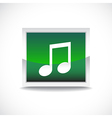 Music sign button vector image