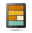 Realistic Tablet PC Computer with Flat Style vector image