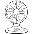 Electric fan vector image
