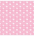 Pink chain of hearts seamless pattern vector image