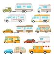 Recreational Vehicle Icons Set vector image