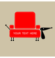 Funny dog with shape of sofa for your design vector image