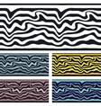 seamless pattern background Zebra and wave vector image