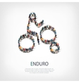 people sports enduro vector image