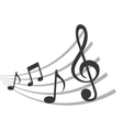 Pattern music notes isolated icon design vector image