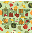 fruit salad decoration vector image vector image