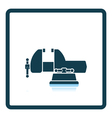 Icon of vise vector image