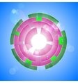 Pink shiny background vector image vector image