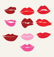 Collection of womens mouths and lips symbol vector image