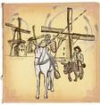 Don Quijote Quixote - An hand drawn sketch vector image