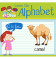 Flashcard letter C is for camel vector image