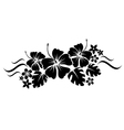 floral border silhouette vector image
