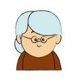 portrait senior woman female cartoon person vector image