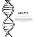 science dna code structure icon poster vector image