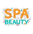 Spa and Beauty - Flat Style Thin Line Art Design vector image